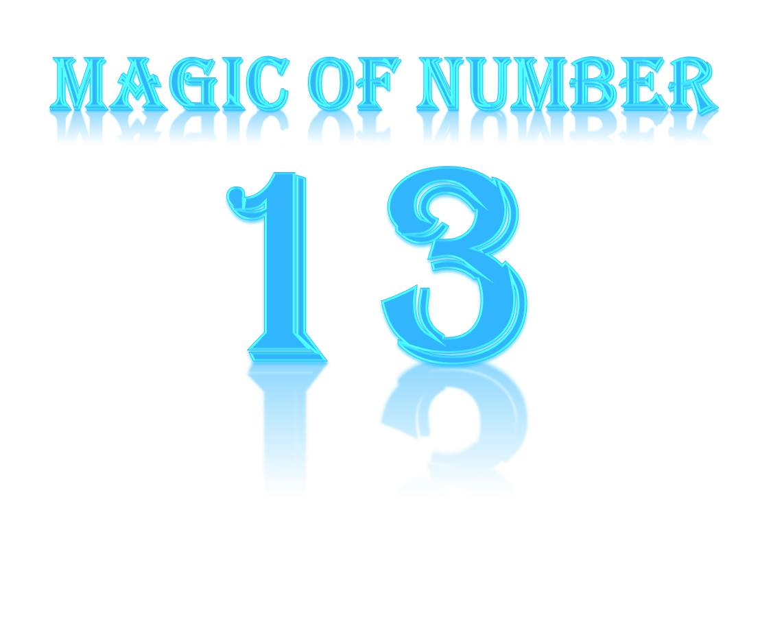 Number thirteen clipart